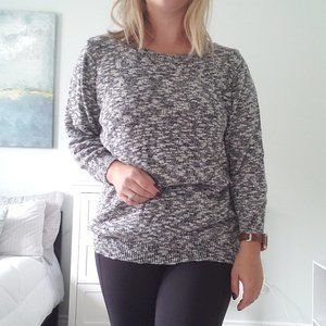 3/$30 Salt and pepper knit crew neck